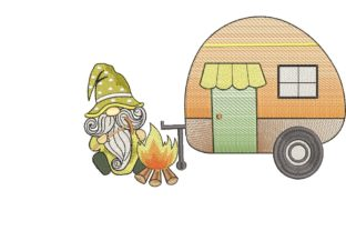 Print on Demand: Camping Gnome Fairy Tales Embroidery Design By ArtEMByNatali 3