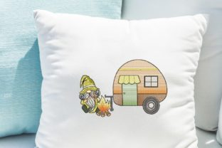 Print on Demand: Camping Gnome Fairy Tales Embroidery Design By ArtEMByNatali 2