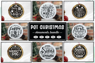 Christmas Pet Ornaments SVG Bundle Graphic Crafts By CraftlabSVG