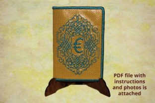 Cover for Plastic Cards Euro Europa Stickdesign von Beautiful Embroidery
