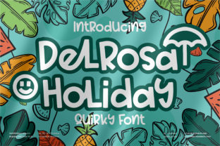 Print on Demand: Delrosa Holiday Display Font By perspectype