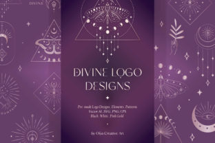 Divine Beauty Logo Designs, Patterns. Graphic Logos By Olya.Creative