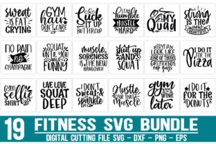 Print on Demand: Fitness Bundle Graphic Crafts By Designdealy