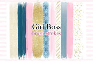 Print on Demand: Girl Boss BRUSH STROKES Print Cute Png Graphic Illustrations By LerVik