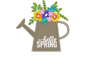 Hello Spring Spring Embroidery Design By SonyaEmbroideryStore