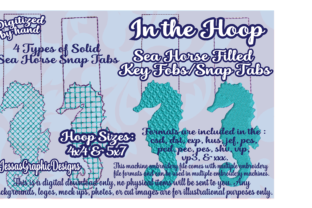 Print on Demand: In the Hoop Sea Horse Marine Mammals Embroidery Design By JessasGraphicDesgins