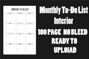 Monthly to-Do List Interior Kdp Graphic KDP Interiors By Ador Hasan