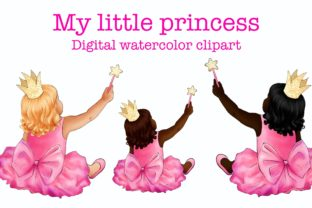 My Little Princess Clipart, Little Girl Graphic Illustrations By Arte de Catrin