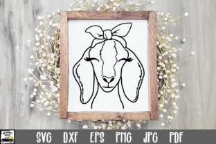 Print on Demand: Nubian Goat with Bandana SVG File Graphic Crafts By oldmarketdesigns