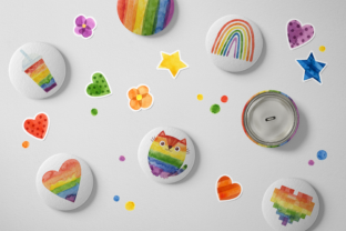Print on Demand: Pride Month, Rainbow Watercolor Clipart Graphic Illustrations By ValinMalin 4