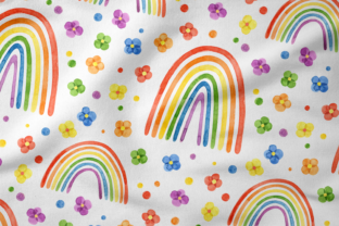 Print on Demand: Pride Month, Rainbow Watercolor Clipart Graphic Illustrations By ValinMalin 7