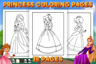 Print on Demand: Princess Coloring Book - Kdp Interior Graphic Coloring Pages & Books Kids By Kristy Coloring