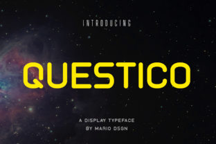Print on Demand: Questico Display Font By MarioDsgn