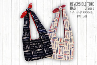 Reversible Tote Bag Pattern Graphic Sewing Patterns By ilovedesinge