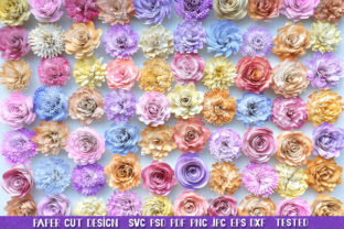 Rolled Flowers, 3D Paper Flowers Bundle Graphic 3D Flowers By goodfox86