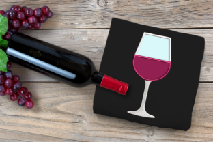 Wine Glass Applique Wine & Drinks Embroidery Design By DesignedByGeeks