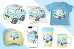 Print on Demand: Nursery Cars Clipart.Boys Transport- Png Graphic Illustrations By LerVik