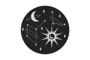 Sun, Moon and Stars Baby Craft Cut File By Creative Fabrica Crafts