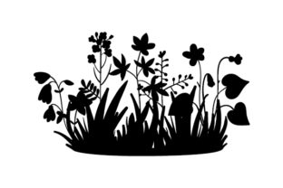 Wildflower Silhouette Spring Craft Cut File By Creative Fabrica Crafts