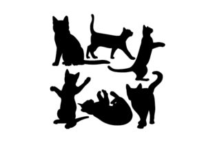 Cat Silhouettes Cats Craft Cut File By Creative Fabrica Crafts