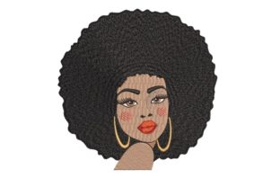 Print on Demand: African Woman Face Africa Embroidery Design By ArtEMByNatali