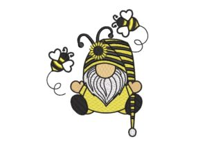 Print on Demand: Bee Kind Gnome Bugs & Insects Embroidery Design By ArtEMByNatali 1