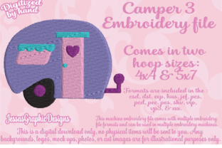 Print on Demand: Camper Travel & Season Embroidery Design By JessasGraphicDesgins