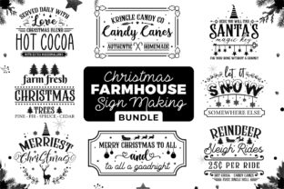 Christmas Farmhouse Sign Making Bundle Graphic Crafts By CraftlabSVG 1