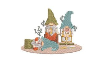 Drunk Partying Gnomes Holidays & Celebrations Embroidery Design By Embroidery Designs