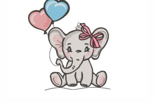 Elephant Baby Animals Embroidery Design By NinoEmbroidery