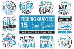 Fishing Quotes SVG Bundle | 15 Designs Graphic Crafts By CraftlabSVG
