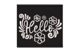 Hello Stencil Motive House & Home Quotes Embroidery Design By Embroidery Designs