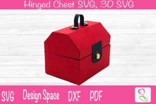 Print on Demand: Hinged Chest SVG/ Tool Box SVG/Cricut Graphic 3D SVG By rushton_tracy
