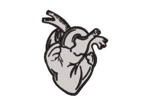 Human Heart Line Art Awareness Embroidery Design By Embroidery Designs