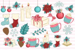 Print on Demand: Merry Christmas! CLIPART Holiday Planner Graphic Illustrations By LerVik 2