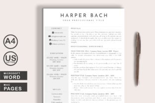 Print on Demand: Modern Resume Template Word Pages Graphic Print Templates By Lemon Downloads