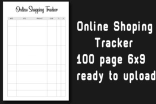Online Shopping Tracker 6x9 100 Pages Graphic KDP Interiors By Ador Hasan