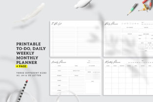 Print on Demand: Printable Daily Weekly Monthly Planner Graphic KDP Interiors By AmitDebnath