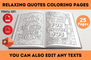Print on Demand: Relaxing Quotes Coloring Book Interior Graphic Coloring Pages & Books Adults By Infinite Desings 2
