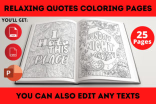 Print on Demand: Relaxing Quotes Coloring Book Interior Graphic Coloring Pages & Books Adults By Infinite Desings 3