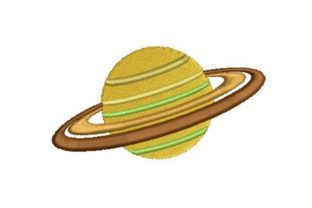 Saturn Robots & Space Embroidery Design By Embroidery Designs
