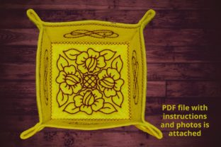 Snap Tray Roses Redwork House & Home Embroidery Design By Beautiful Embroidery