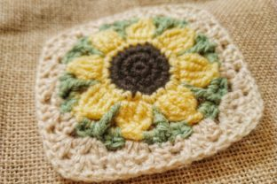 Sunflower Granny Square Pattern Graphic Crochet Patterns By Yeoja Makes