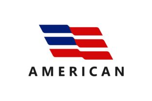 The American US Flag Waves Logo Graphic Logos By Typescroll