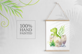 Watercolor Cute Dinosaur Clipart Graphic Illustrations By SipkaDesigns 4