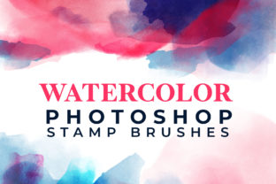 Watercolor Stamp Photoshop Brushes Graphic Brushes By TheGypsyGoddess