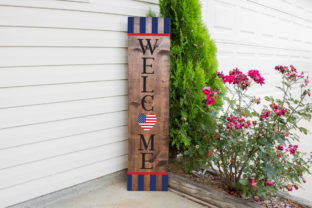 Welcome USA - Patriotic Svg Sign Graphic Crafts By Simply Cut Co