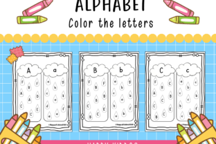 Alphabet Color the Letters for Pre-K Graphic PreK By Happy Kiddos