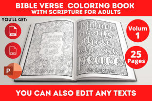 Print on Demand: Bible Verse Coloring Book Graphic Coloring Pages & Books Adults By Infinite Desings 1