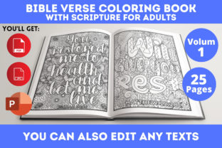 Print on Demand: Bible Verse Coloring Book Graphic Coloring Pages & Books Adults By Infinite Desings 2